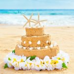 Wedding Cake made of sand
